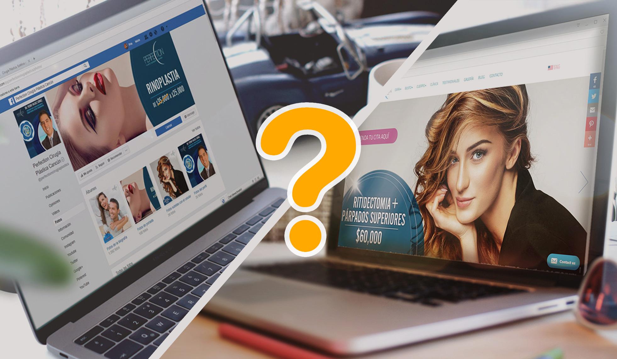 qué es más conveniente para tu empresa, tener una página web o una página de facebook